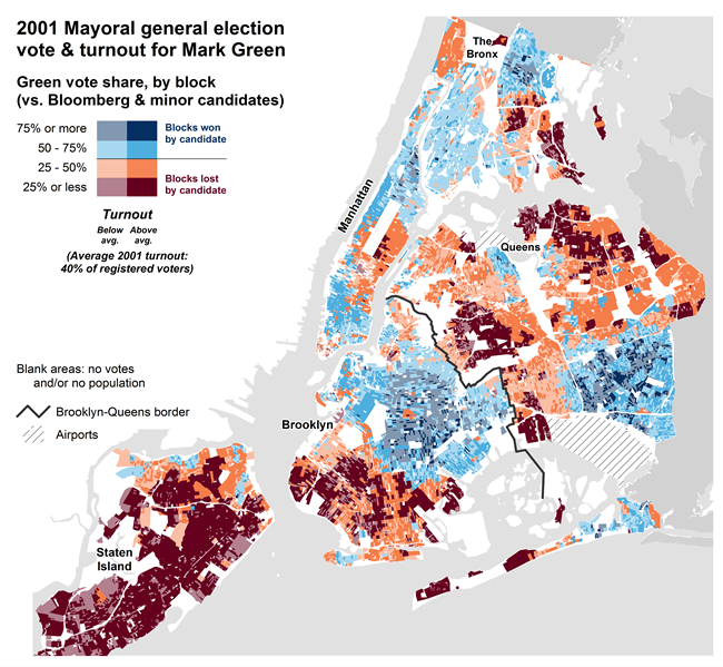 Map Of New York 2001.Nyc Election Atlas Maps