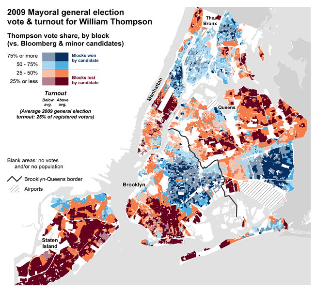 NYC Election Atlas Maps - Election turn out us map